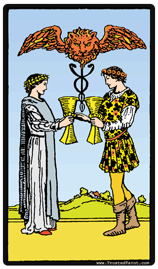 five of cups and four wands relationship